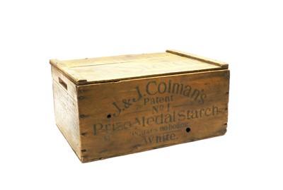 Lot 81 - A vintage wooden Colman's Mustard & Starch box