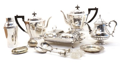 Lot 40 - A collection of silver plated items
