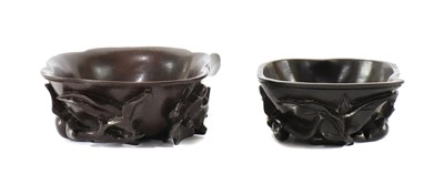 Lot 186 - Two Chinese zitan libation cups