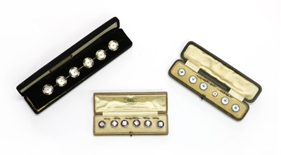 Lot 31 - Three sets of buttons