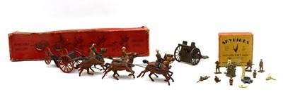 Lot 38 - A Crescent Toys Royal Horse Artillery six horse gun team