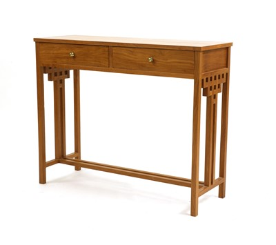 Lot 482 - A contemporary teak console table