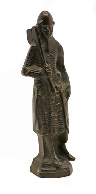 Lot 57 - A bronze of a knight