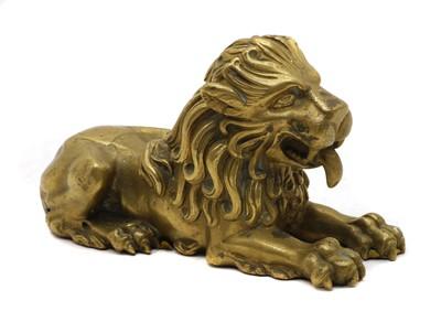 Lot 88 - A bronze of a lion