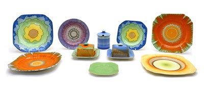 Lot 117 - A collection of Art Deco Shelley wares