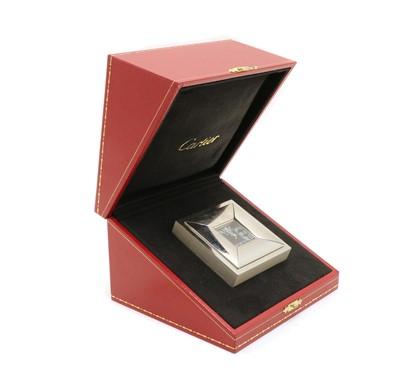 Lot 114 - A Cartier miniature bedside clock