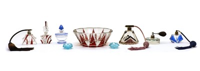 Lot 116 - Two Art Deco glass atomisers