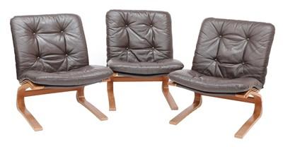Lot 583 - Three teak Rykken chairs