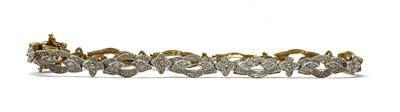 Lot 68 - A 9ct gold diamond set bracelet