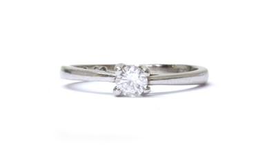Lot 73 - A 9ct white gold single stone diamond ring