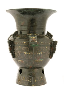 Lot 117 - A Chinese bronze vessel