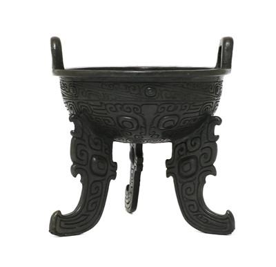 Lot 108 - A Chinese bronze ritual food vessel