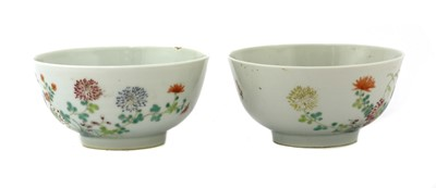 Lot 73 - A pair of Chinese famille rose bowls