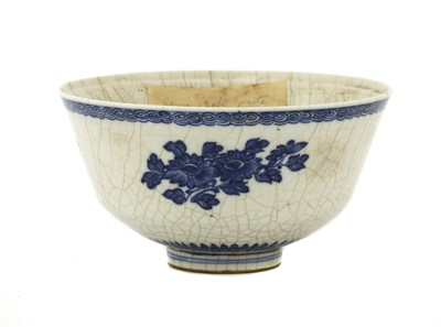 Lot 32 - A Chinese blue and white soft-paste  bowl
