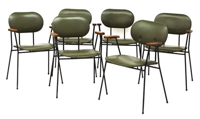 Lot 435 - A set of six Eglin industrial dining chairs