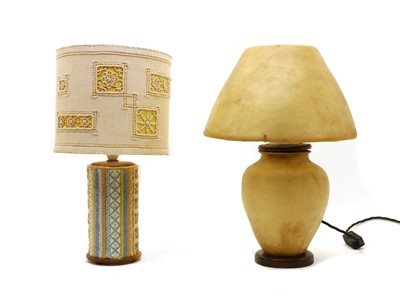 Lot 111A - A Vellum table lamp.