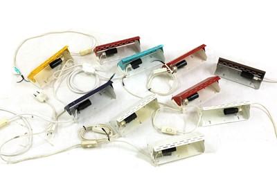 Lot 496 - Ten various enamelled wall lights