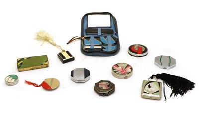 Lot 112 - Eight ladies compacts
