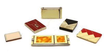 Lot 113 - Two combination ladies cigarette cases and compacts