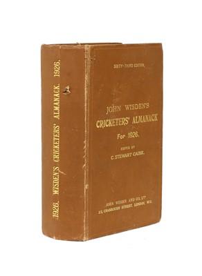 Lot 70 - WISDEN Cricketers' Almanack: 1926