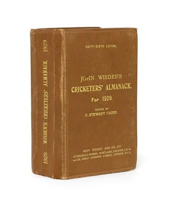 Lot 72 - WISDEN Cricketers' Almanack: 1929