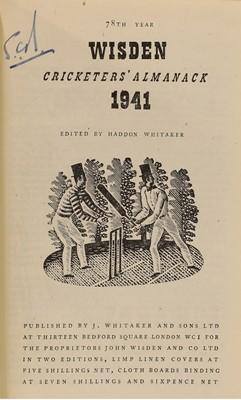 Lot 81 - WISDEN Cricketers' Almanack: 1941