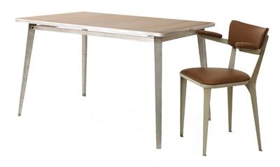 Lot 443 - A BA desk table and an armchair