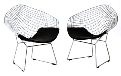 Lot 524 - A pair of 'Diamond' armchairs