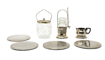 Lot 31 - A collection of silver and silver plated items