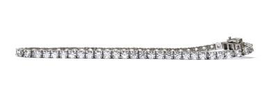 Lot 77 - A silver cubic zirconia line bracelet