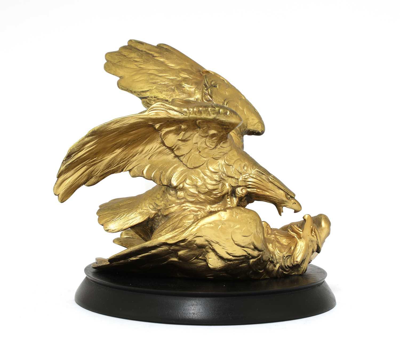 Lot 24 - An Austrian gilt-bronze eagle group