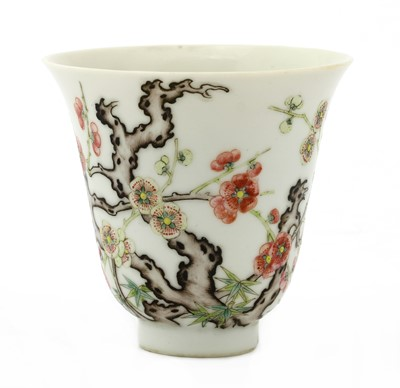 Lot 46 - A Chinese famille rose cup