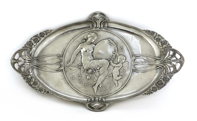Lot 5 - A WMF pewter card tray