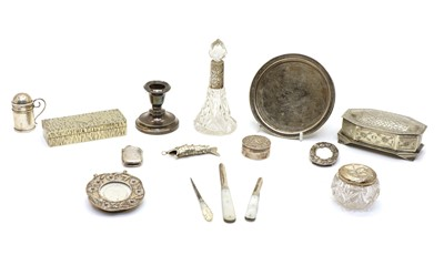 Lot 13 - A collection of silver and silver plated items