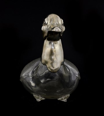 Lot 25 - A WMF silver-plated glass decanter