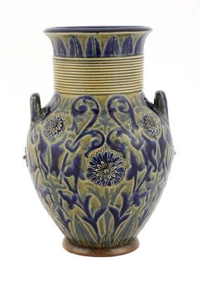 Lot 50 - A Doulton Lambeth stoneware vase