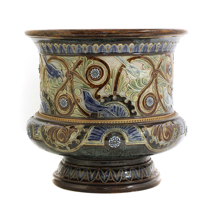 Lot 51 - A Doulton Lambeth stoneware jardinière
