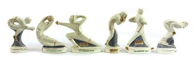 Lot 461 - A set of six Rome XVII Olympiad (summer 1960) figural souvenir bottles