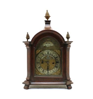Lot 48 - A walnut mantel clock