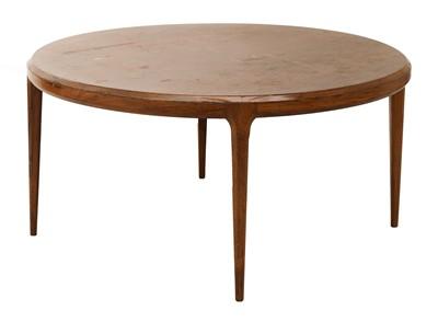 Lot 564 - A rosewood circular coffee table, §