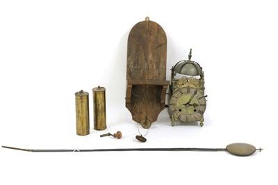 Lot 79 - Thomas Moore & Co brass eight-day lantern clock
