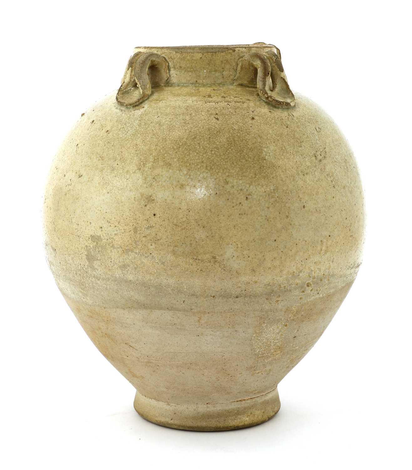 Lot 7 - A Chinese Xing ware white-glazed jar