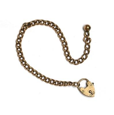 Lot 113 - A gold hollow curb link bracelet