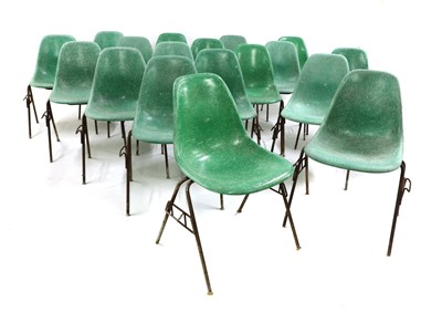 Lot 486 - Eighteen 'DSS' stacking chairs