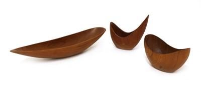 Lot 500 - Three teak bowls