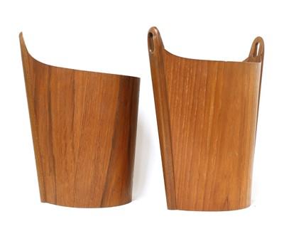 Lot 501 - Two teak wastepaper bins