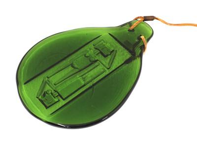 Lot 498 - A green glass sun-catcher