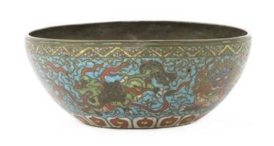 Lot 164 - A Chinese cloisonné bowl