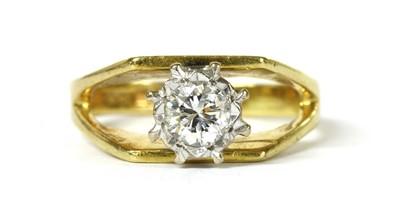 Lot 50 - An 18ct gold single stone diamond ring