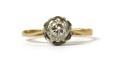 Lot 44 - A gold single stone diamond ring